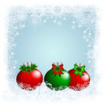 Christmas background elegant with snowflakes glass ball and place for text Royalty Free Stock Images