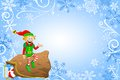 Christmas background with elf vector illustration of a Royalty Free Stock Photos