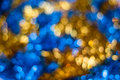 Christmas background. Festive abstract with bokeh defocused lights