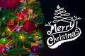 Christmas background with festive decoration and text Royalty Free Stock Photo
