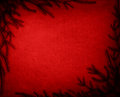 Christmas background frame red with fir tree Royalty Free Stock Images