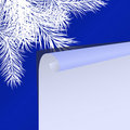 Christmas background with fur-tree branches Stock Photos