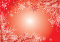 Christmas background with a fur-tree, vector Royalty Free Stock Images