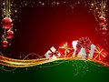 Christmas background with Gift box Royalty Free Stock Images