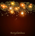 Christmas background with a glowing garland Royalty Free Stock Photography