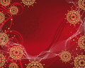 Christmas background with gold filigree snowflakes Royalty Free Stock Photography