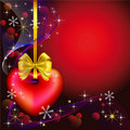 Christmas background with heart Stock Image
