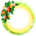 Christmas background with holly Royalty Free Stock Photography