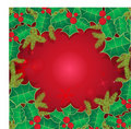 Christmas background with holly berry leaves Royalty Free Stock Photos