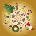 Christmas background illustration of with children Royalty Free Stock Images