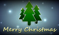 Christmas background with the image of three christmas trees and shine snow Stock Photography
