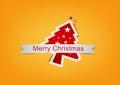 Christmas background label Royalty Free Stock Photo