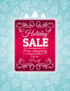 Christmas background and label with sale offer ve vector illustration Stock Photo