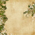 Christmas background with miraculous garland vintage beautiful Stock Image