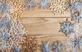Christmas background. New year decoration on grunge wooden board Royalty Free Stock Photo