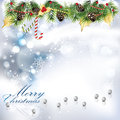 Christmas background with ornament and decorative elements Stock Photos