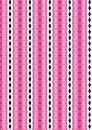 Christmas background pink balls pattern Royalty Free Stock Image