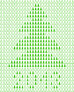 Christmas background with pixel Christmas tree. Royalty Free Stock Photo