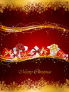 Christmas background with presents Royalty Free Stock Photo