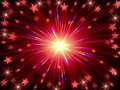 Christmas background radiate in red and violet Royalty Free Stock Photography