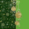 Christmas background with red baubles illustration Royalty Free Stock Image