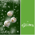 Christmas background with red baubles illustration Stock Photo