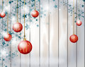 Christmas background with red christmas bulbs Royalty Free Stock Photo