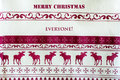 Christmas background with red deer merry christmas everyone greeting card Royalty Free Stock Images