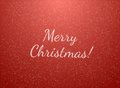 Christmas background red with snowflakes Stock Photos