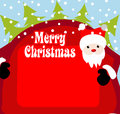Christmas background santa claus Stock Image