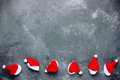 Christmas background with santa hat border Royalty Free Stock Photo