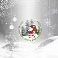 Christmas background with silver baubles illustration Stock Photos