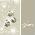 Christmas background with silver baubles illustration Royalty Free Stock Photo