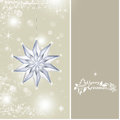 Christmas background with silver baubles illustration Stock Image