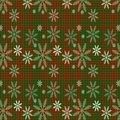 Christmas background with snow checkered for card Stock Image