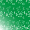 Christmas background with snow green for card Stock Image