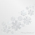 Christmas background with snowflakes of different shapes and sizes Royalty Free Stock Photo