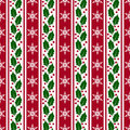Christmas background with snowflakes and holly. Vector seamless Royalty Free Stock Photo