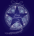 Christmas background with snowflakes and stars Royalty Free Stock Image