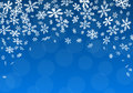 Christmas background with snowflakes vector illustration of a Royalty Free Stock Images