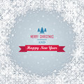 Christmas background with snowflakes vector illustration Stock Photography