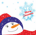 Christmas background with snowman Royalty Free Stock Photos