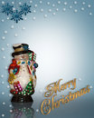 Christmas Background Snowman Stock Images