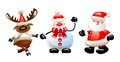 Christmas background with snowman santa christmas characters Royalty Free Stock Images