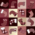 Christmas background of socks seamless pattern Royalty Free Stock Images