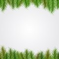 Christmas background with spruce twigs for your text Royalty Free Stock Photos