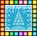 Christmas background theme abstract snowflakes and tree winter vector illustration Royalty Free Stock Images