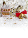 Christmas background with toys Royalty Free Stock Photo