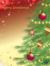 Christmas background with tree Stock Image