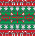 Christmas background with tree made of wool eps Stock Images